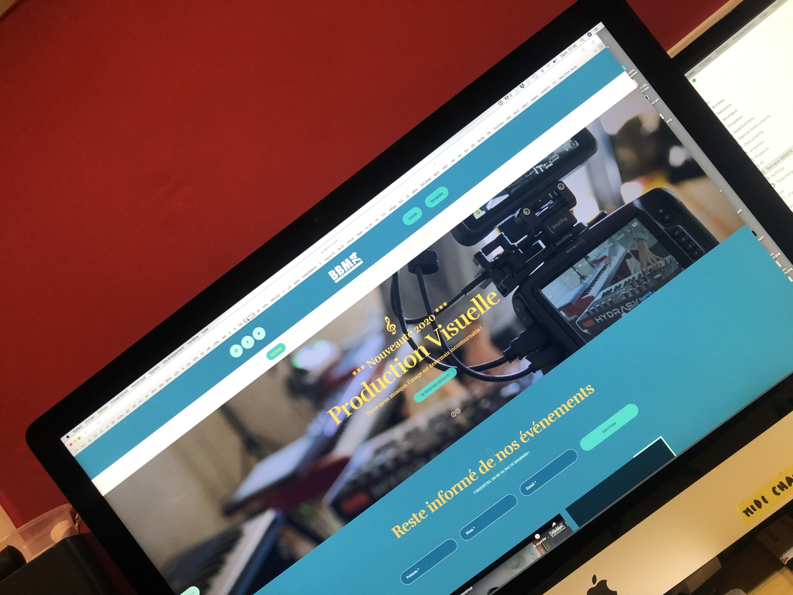 Ecran d'ordinateur nouveau site web BBM 74