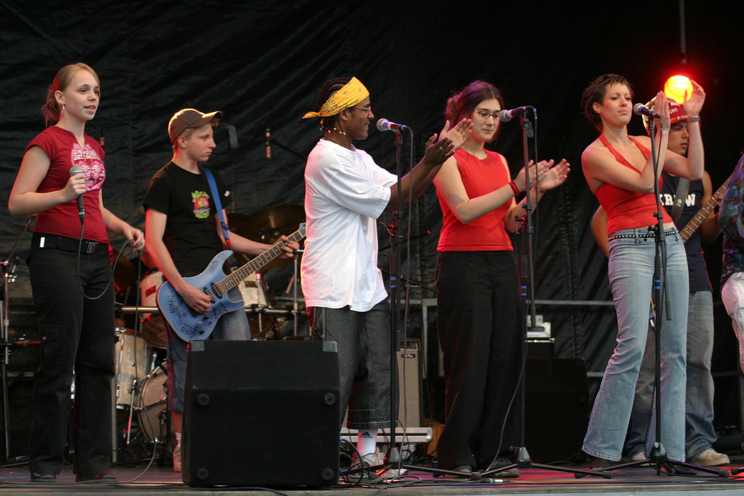 Groupe de musique Sur scène Concert Suisse